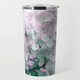Soft Pastel Hydrangeas Travel Mug
