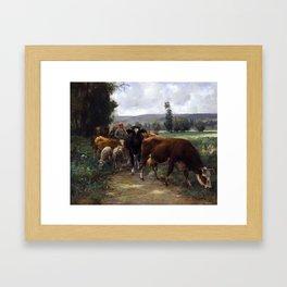 Home from the Pasture ,  Julien Dupré Framed Art Print