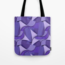 Ultra Violet Abstract Waves Tote Bag