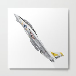 Fighter Squadron 21 (VF-21) Freelancers F-14 Tomcat Illustration Metal Print