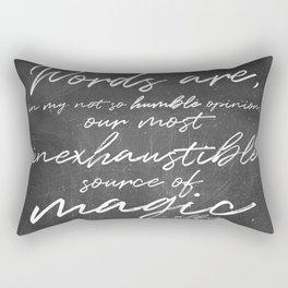 Words Are Magic (Dark) Rectangular Pillow