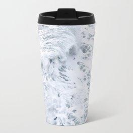 White Abstract Sea Travel Mug