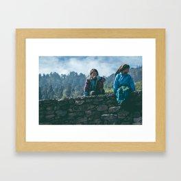 Nepalese Kids  Framed Art Print
