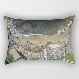 Small Fishing Boats on Sydney Beach Rectangular Pillow