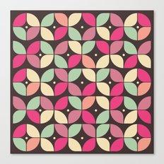 Funky Flower Garden Pattern Canvas Print