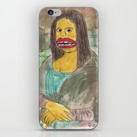 mona lisa iPhone & iPod Skins featuring Mona Lisa by GOONS