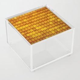 Orange Buddha glass plate Acrylic Box