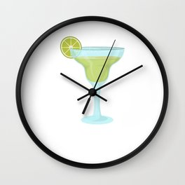 I Heard There Would Be Margaritas Funny Wall Clock