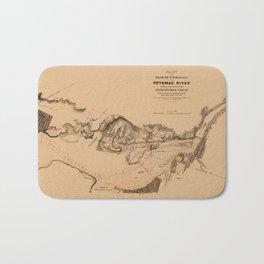 Map of Potomac River 1838 Bath Mat