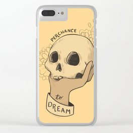 to sleep Clear iPhone Case