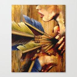 Struck Canvas Print