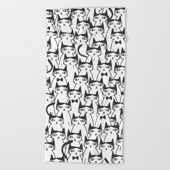Cats #society6 Decor #buyart Beach Towel