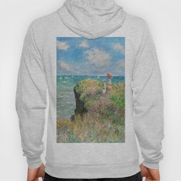 1882-Claude Monet-Cliff Walk at Pourville-66 x 82 Hoody