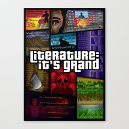 Grand Theft Literature Canvas Print