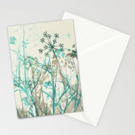 Abstract Botanical Stationery Cards