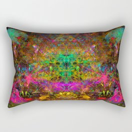 Spark Dance (psychedelic, abstract, visionary) Rectangular Pillow