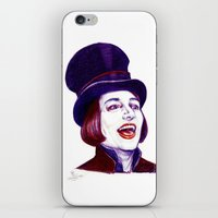 willy wonka iPhone & iPod Skins featuring Wonka by Indigo East by ieIndigoEast