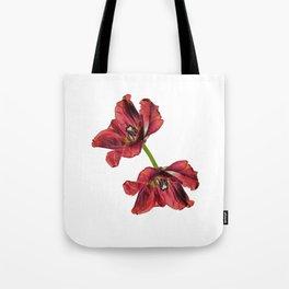 Burning tulip Tote Bag