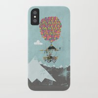 brompton iPhone & iPod Cases featuring Riding A Bicycle Through The Mountains by Wyatt Design