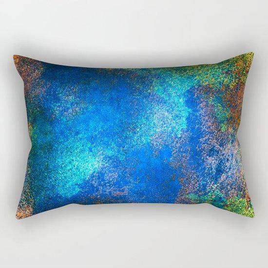 wall texture inside blues Rectangular Pillow