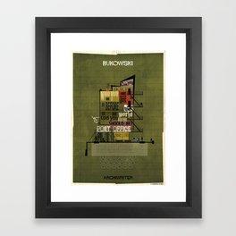 06_ARCHIWRITER_charles bukowski Framed Art Print