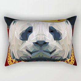 The King of Pandas Rectangular Pillow