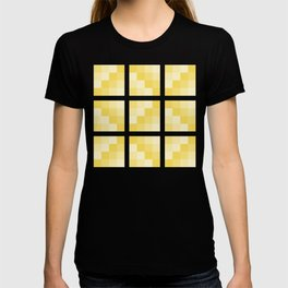 Four Shades of Yellow Square T-shirt