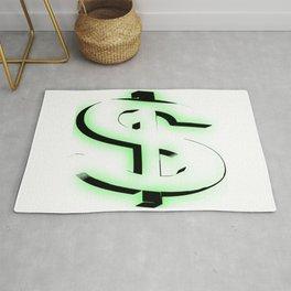 Money Dollar Sign Rug