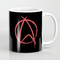 anarchy Mugs featuring Federation Anarchy by The Cracked Dispensary
