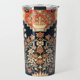 Kashan Poshti  Antique Central Persian Rug Print Travel Mug