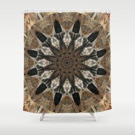 Mandala black Star Shower Curtain
