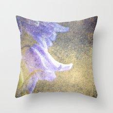 Vintage bluebells Throw Pillow