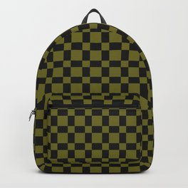 GAMBIT lime green and black checkerboard pattern Backpack