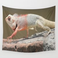 chameleon Wall Tapestries featuring Chameleon  by Four Hands Art