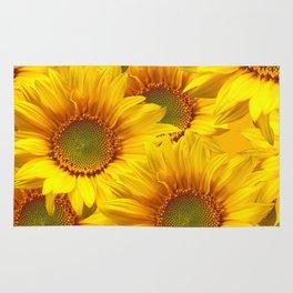 Yellow Mellow Sunflower Bouquet #decor #society6 #buyart Rug