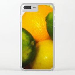 Lemon Lime Still Life Clear iPhone Case