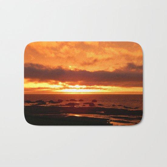 Skies of Fury at Sunset Bath Mat