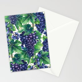 Watrercolor grapes Stationery Cards