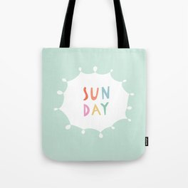 Sunday in Mint Tote Bag