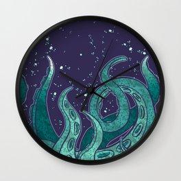 Giant Tentacle Blue Redux Wall Clock