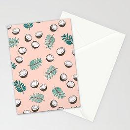 Little coconut garden summer surf palm leaves pink Stationery Cards
