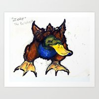 Zeke the bull-duck Art Print
