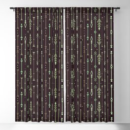 Scandi-Sticks A - Vertical - Greens Blackout Curtain
