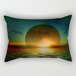 it's a bad moon rising Rectangular Pillow
