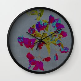 flowery branch Wall Clock