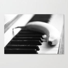 Banana on piano Canvas Print