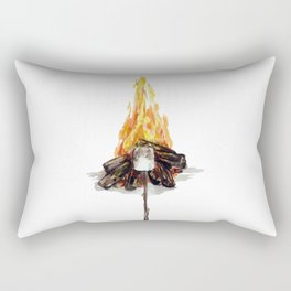 Campfire, Smore, Marshmallow Roasting, Camping Rectangular Pillow