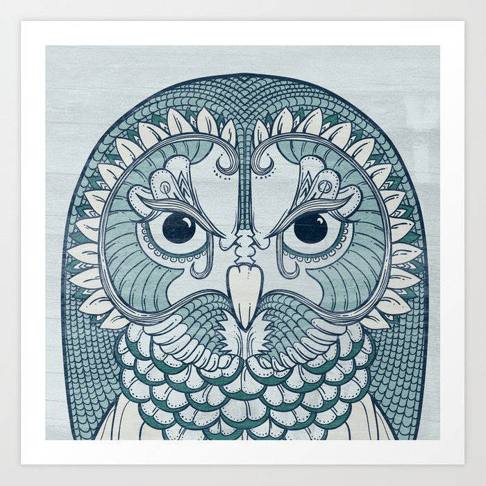 Owlustrations 1 Art Print