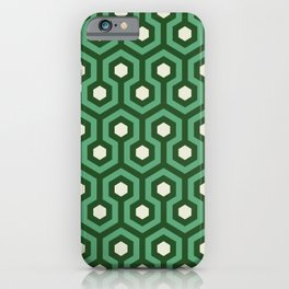 Emerald Goth Hexagon Pattern iPhone Case