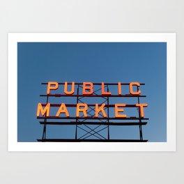Market at Dusk - Seattle Art Print